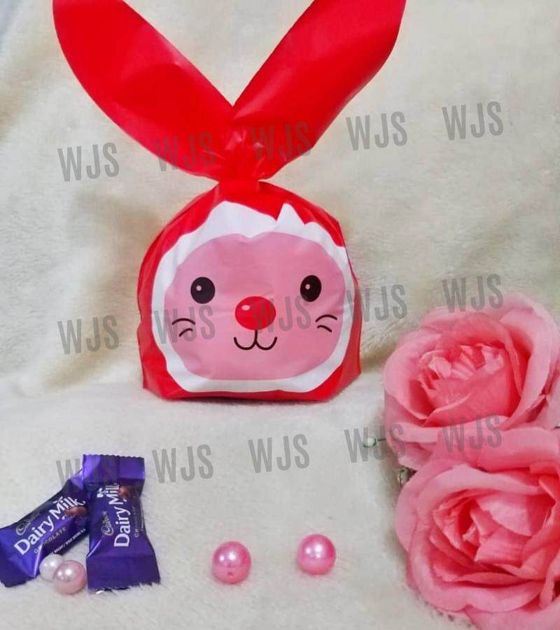 (MULTIPLE SIZES) WJS 50pcs 50 pcs Full Red Cute Smily Smiley Rabbito Rabbit Colorful Ears Full Goodies Bag