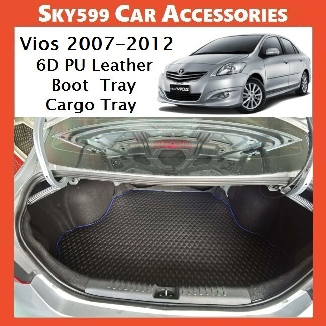 Toyota Vios 2007-2012 6D Pu Leather Boot Tray Cargo Tray