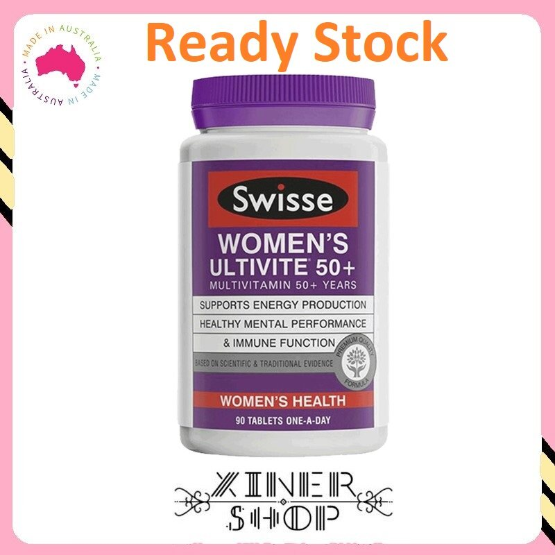 [Ready Stock EXP Date : 07/2021] Swisse Women's Ultivite 50+ Multivitamin for 50+years ( 90 Capsules) ( Made In Australia )