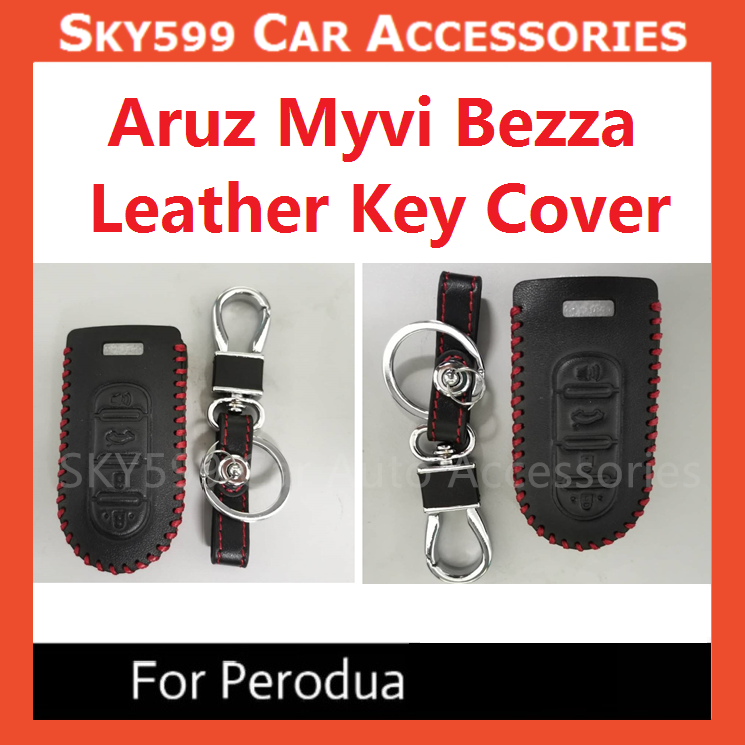 Perodua Axia Aruz Myvi Bezza Genuine Leather Key Cover