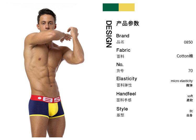 Orvls Mens Boxer Underwear Breathable Net Shorts Underpants Soft Briefs Panties MT70