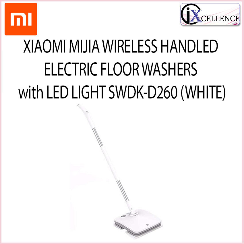 [IX] XIAOMI MIJIA WIRELESS HANDLED ELECTRIC FLOOR WIPER WITH LED LIGHT SWDK-D260 (WHITE)
