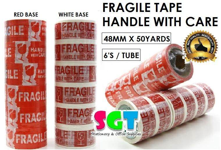 Fragile / Handle With Care Tape 48MM X 50Y (6'S/TUBE)