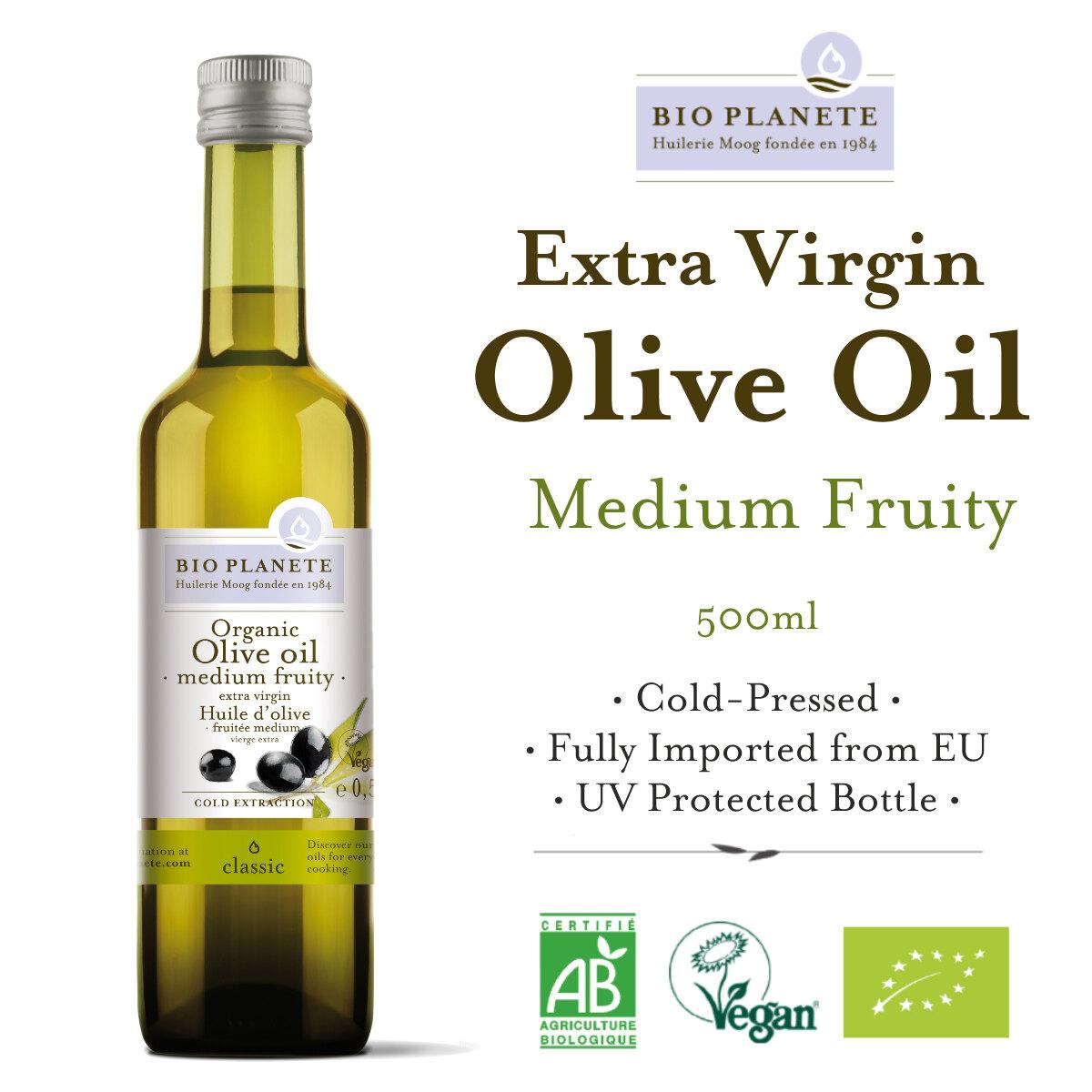 BIO PLANETE Organic Extra Virgin Olive Oil (500ml) - Organik Minyak Zaitun Eropah - Bio Planete 有机橄榄油 (500毫升)