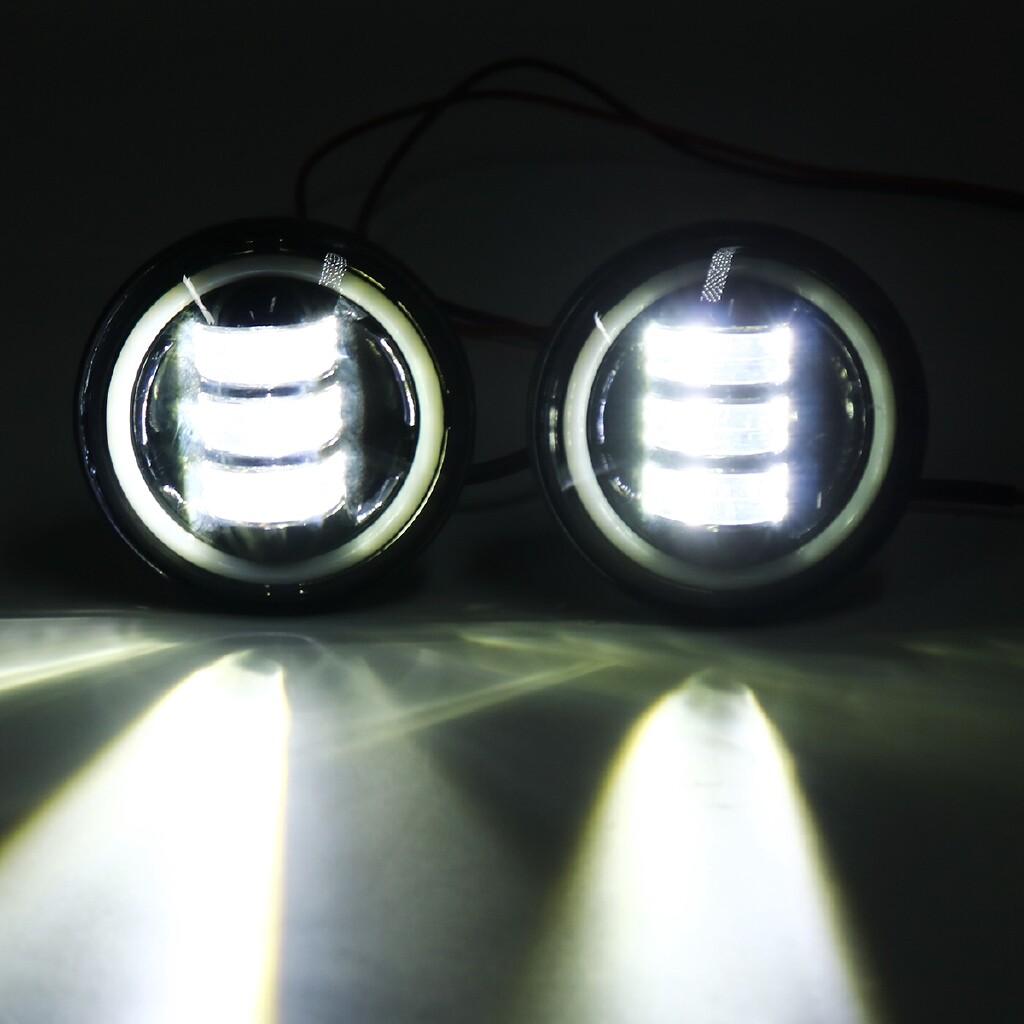 Car Lights - Black 2200Lm 6000K Motorcycle LED Front 2200Lm 6000K Motorcycle LED Front Headlight Flood Light - Replacement Parts