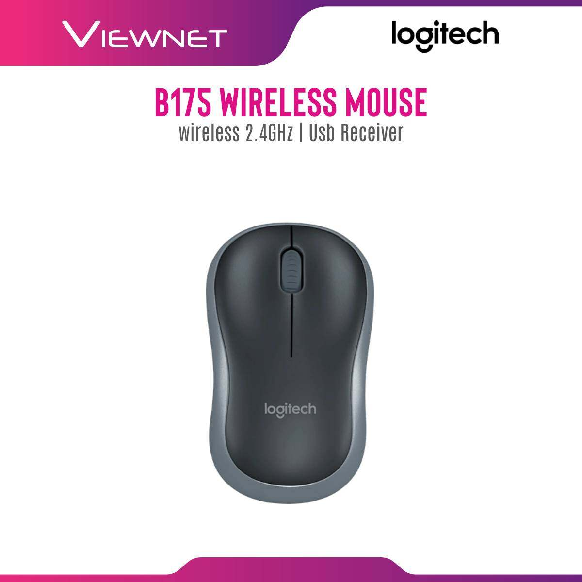 Logitech Wireless Mouse B175 with 2.4GHz Wireless Connection, Up To 1 Year Battery Life, Nano USB Receiver