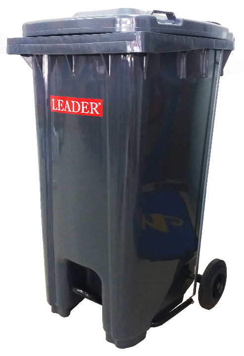 Mobile Garbage Bin 240-PEDAL with Foot Pedal (Blue/Green/Orange/Brown/Yellow/D.Grey)
