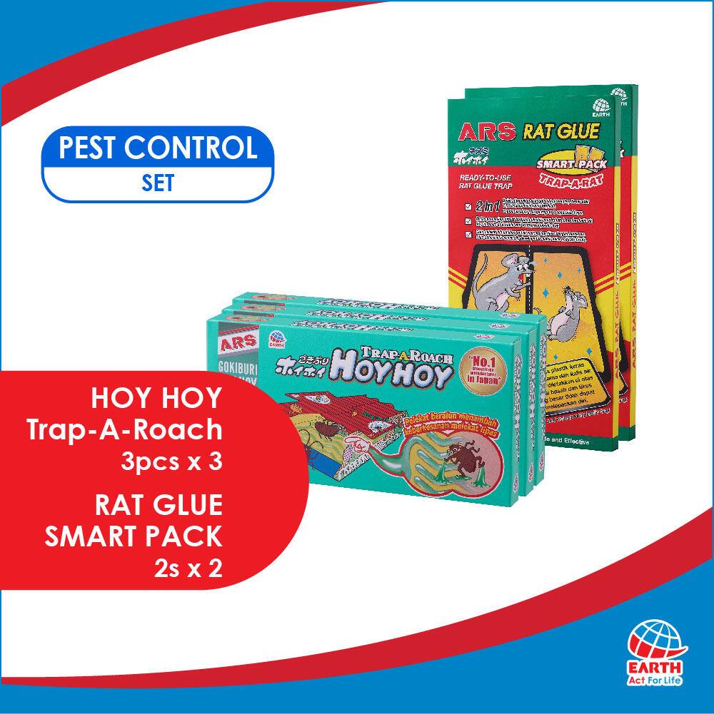ARS Pest Control Set: Hoy Hoy Trap-A-Roach & Rat Glue Smart PackEHB000011