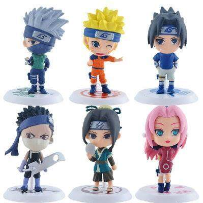 [Set of 6] Naruto Series Action Figures Toys for boys