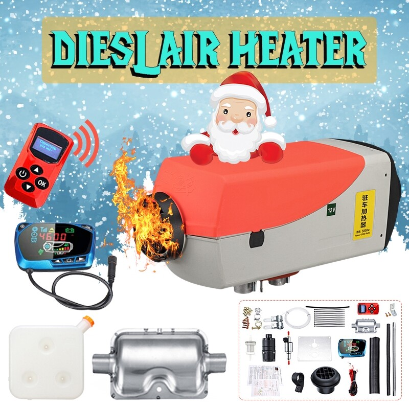 Car Care - 12V 8KW Car Truck Boat Fuel Diesel Air Heater LCD Thermostat Remote Control Tank - Automotive