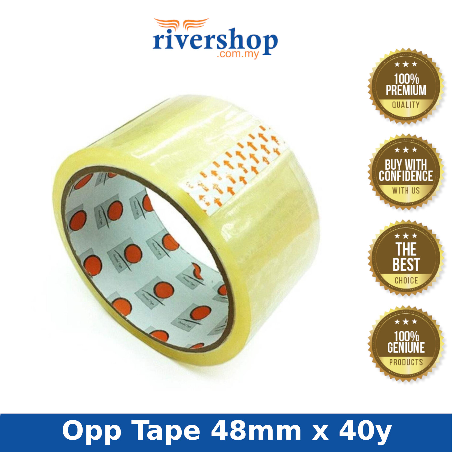 Transparent Clear Opp Packing Tape 48mm x 40yard
