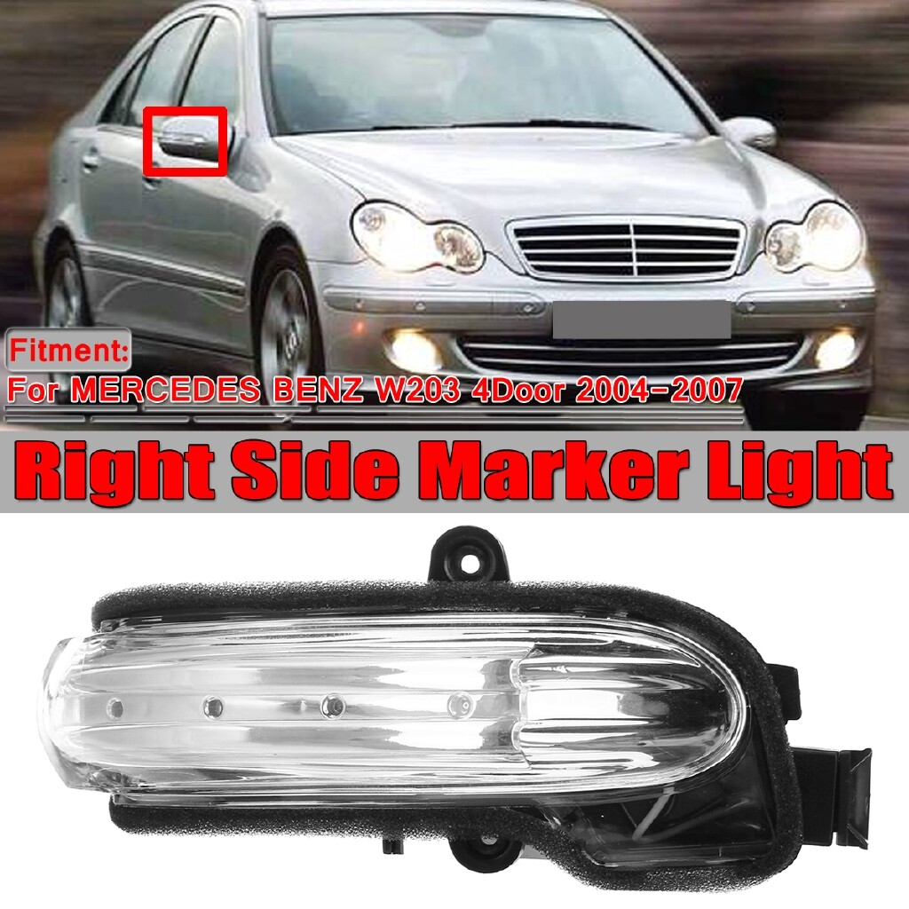 Car Lights - For Mercedes-Benz C Class W203 4DR 04-07 LED Mirror Indicator Repeater Right - Replacement Parts