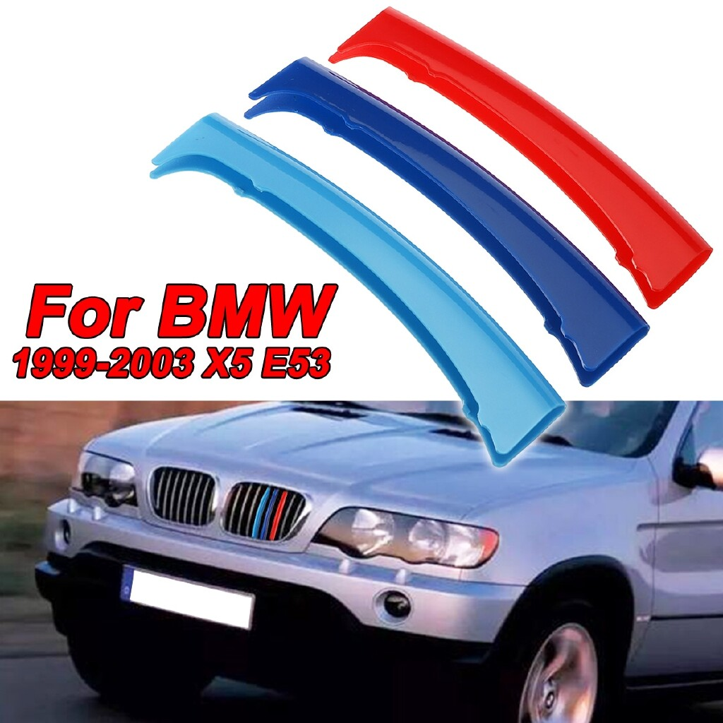 Engine Parts - M-Sport 3 Color Kindly Grill Grille Strip Cover Clip Trim For BMW X5 E53 99-03 - Car Replacement