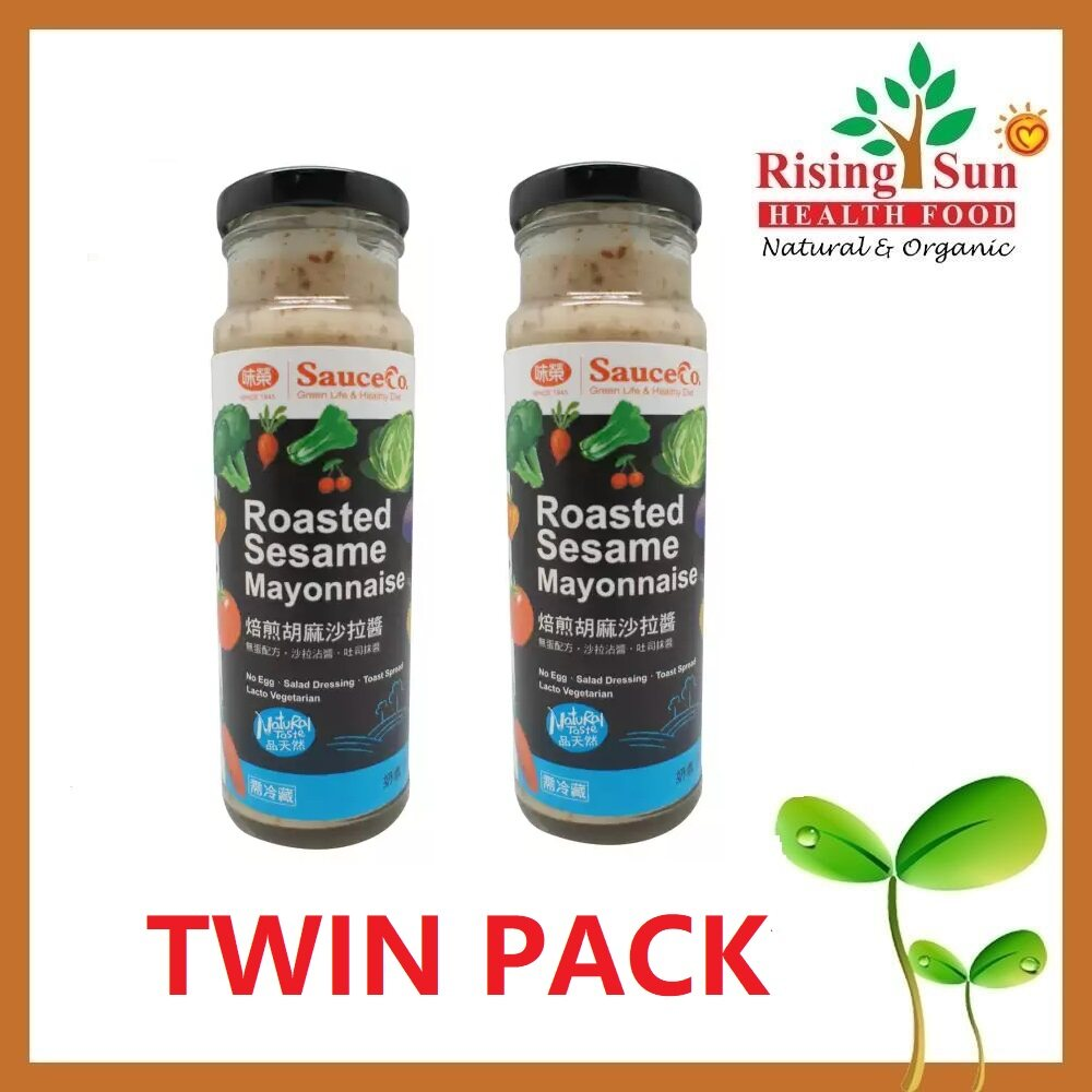 Sauce Co Roasted Sesame Mayonnaise (Lacto Vegetarian) 220g - Twin Pack