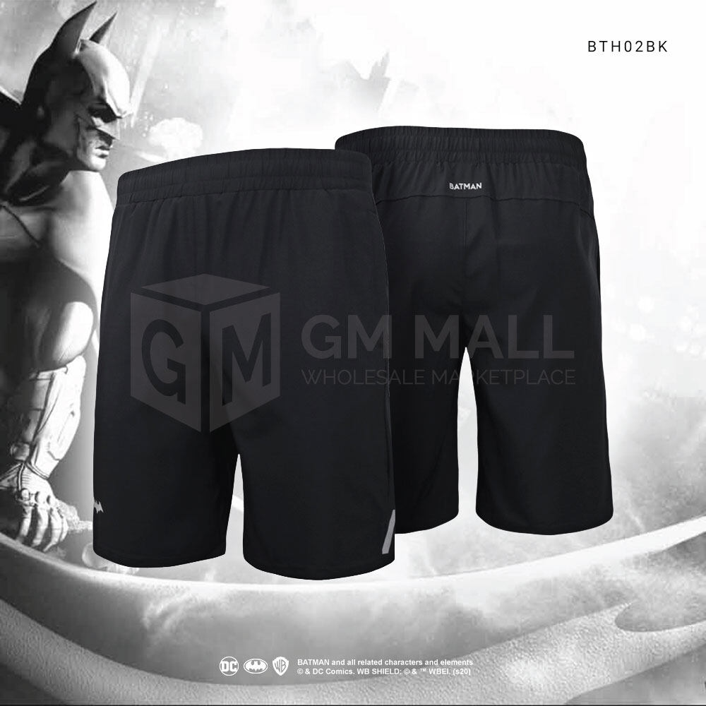 DC BATMAN Exclusive BLACK Men Sport Gym Running Jogging Training Short Pants – Casual Sport Running Pants [BTH02BK]