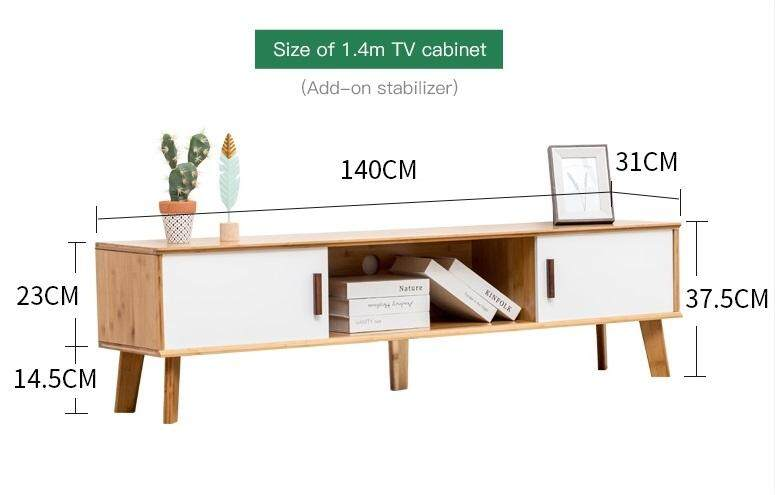 (FREE Delivery Klang Valley) Bamboo- World TV Cabinet 140CM