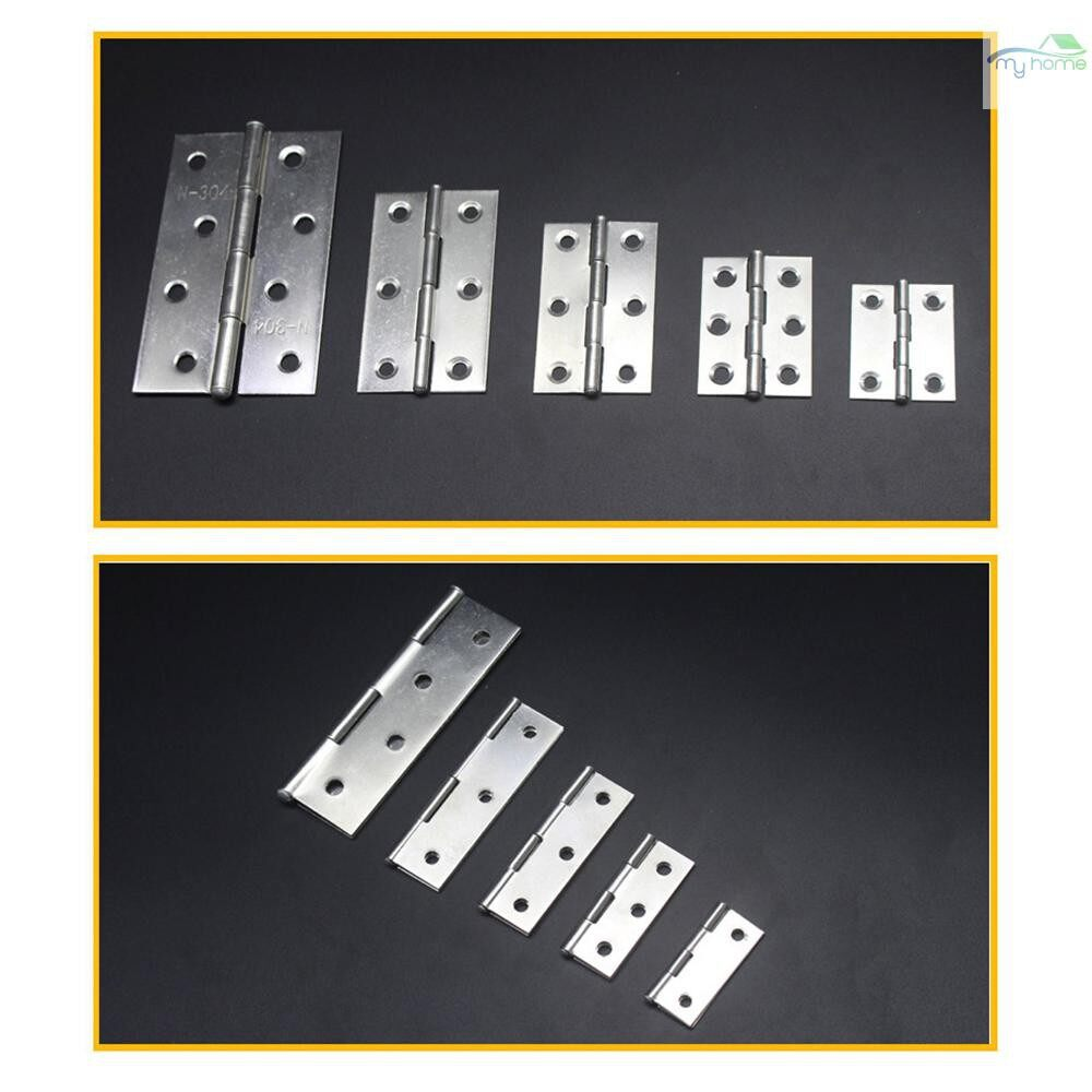 Chains & Locks - 4 PIECE(s) Stainless Steel Folding Butt Hinges Back Flap Hinge Home Furniture Hardware Door Hinge - 2 INCH / 1.5 INCH