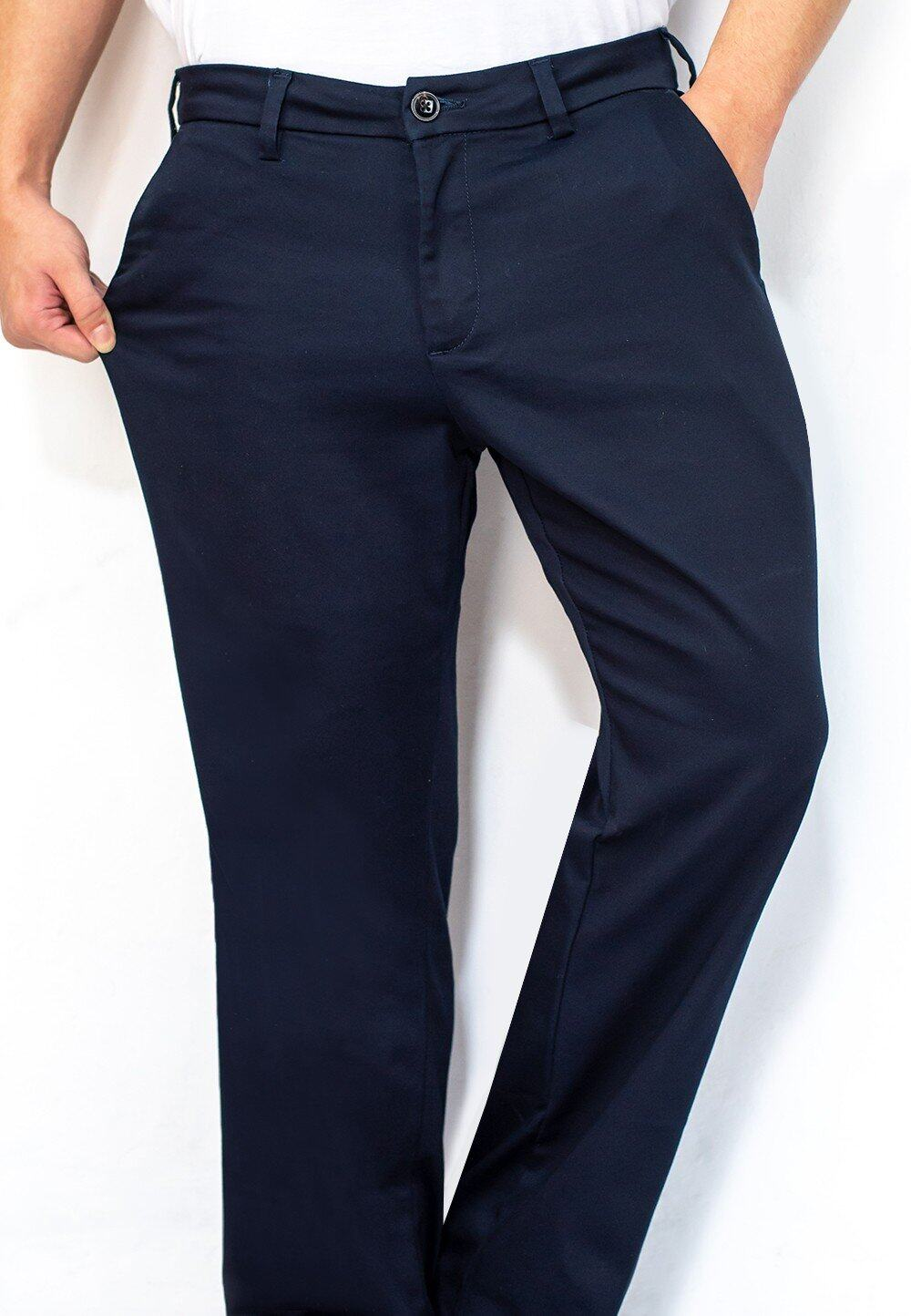 Stretchable Straight Cut Chino Long Pants 700