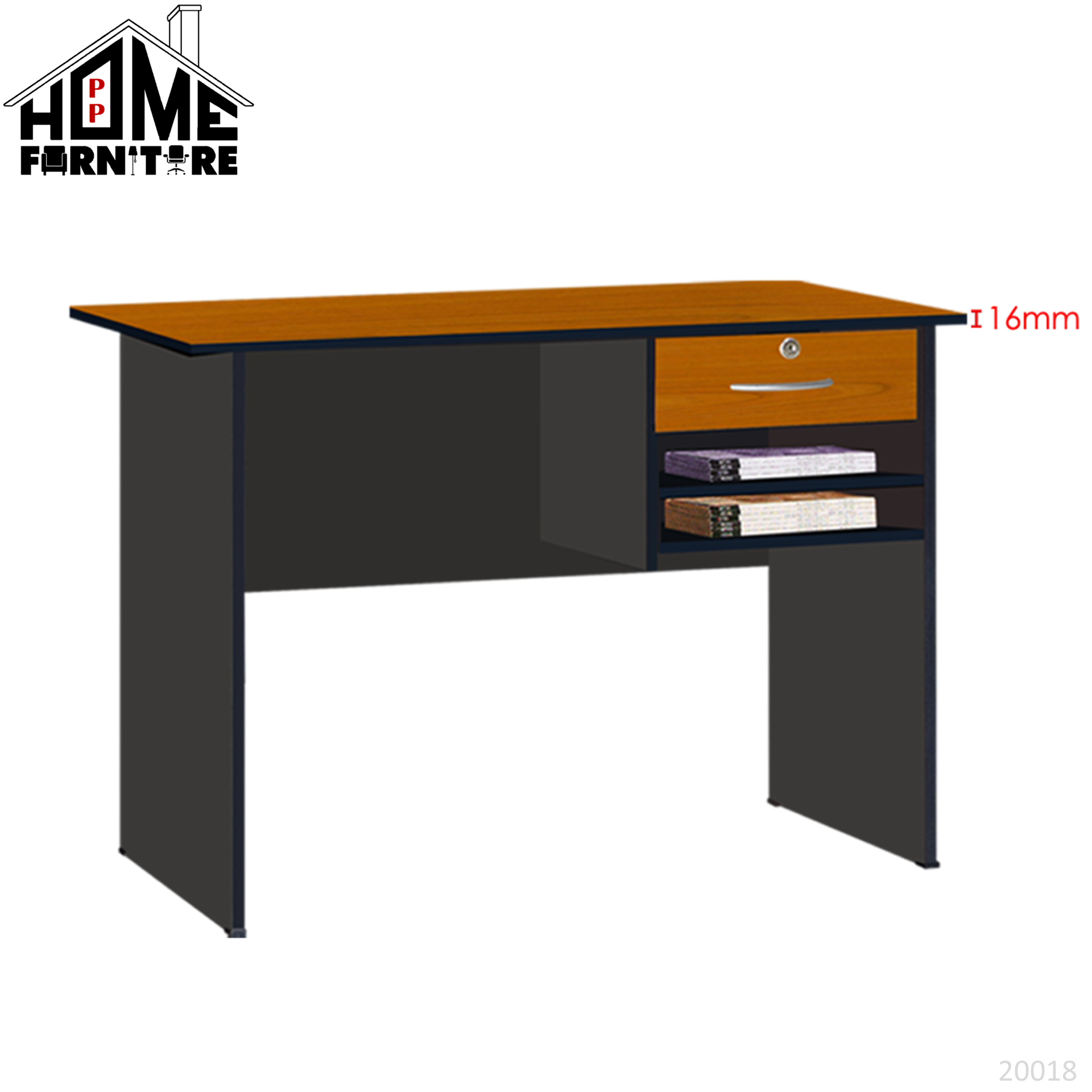 PP HOME Study Table with locker drawer/Writing table/Working table /PC table/ Student table/Home office table/Multipurpose table/Desk/Computer table/Destop/laptop/Meja belajar/Meja tulis/Meja kerja/komputer电脑桌/书桌/工作桌/读书桌/办公桌20018