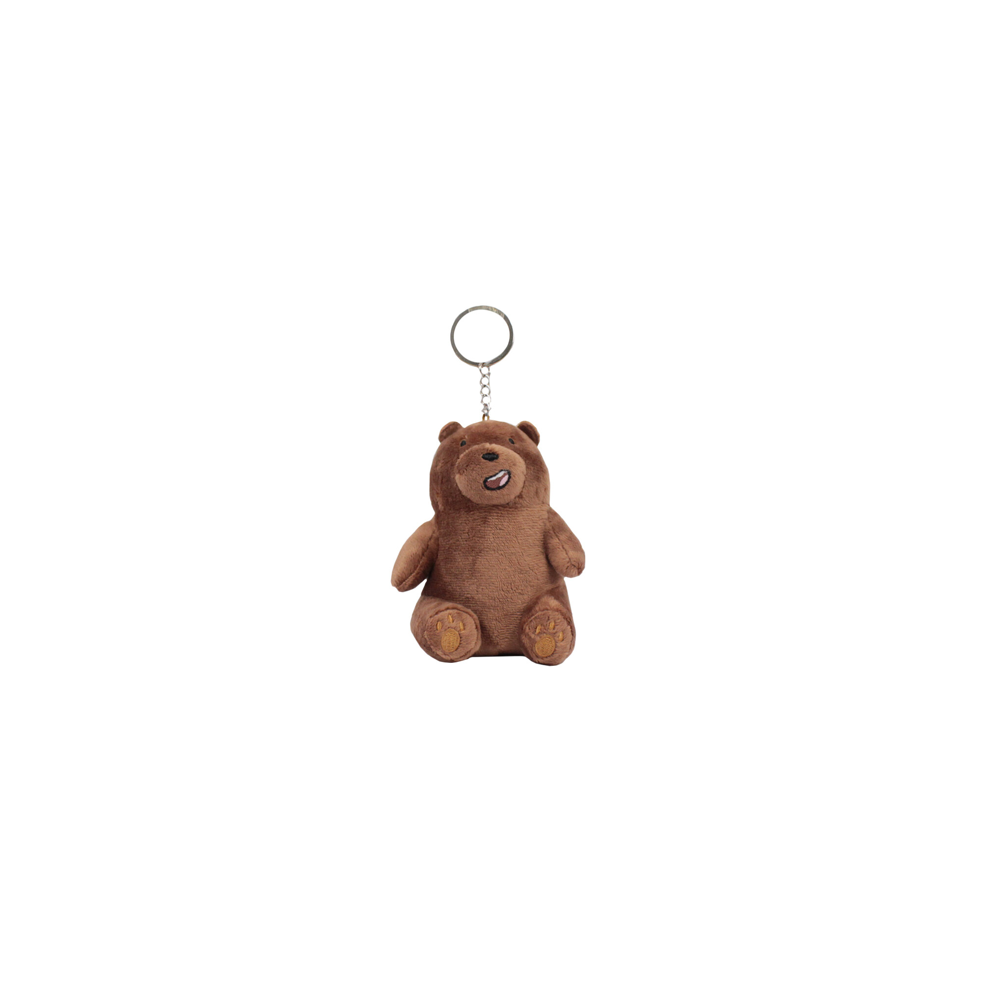 We Bare Bears Plush Keychain With Magnet - Grizz