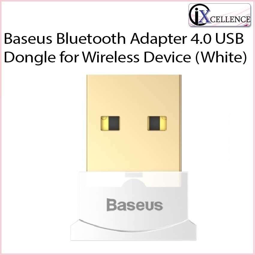 [IX] Baseus Bluetooth Adapter 4.0 USB Dongle for Wireless Device (White)