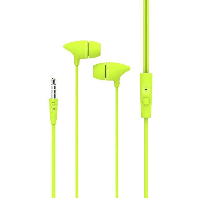 On-Ear Headphones - UiiSii C100 Wired In-ear Headphones Music Student Earphone with Microphone - GREEN / PINK / RED / WHITE / BLACK