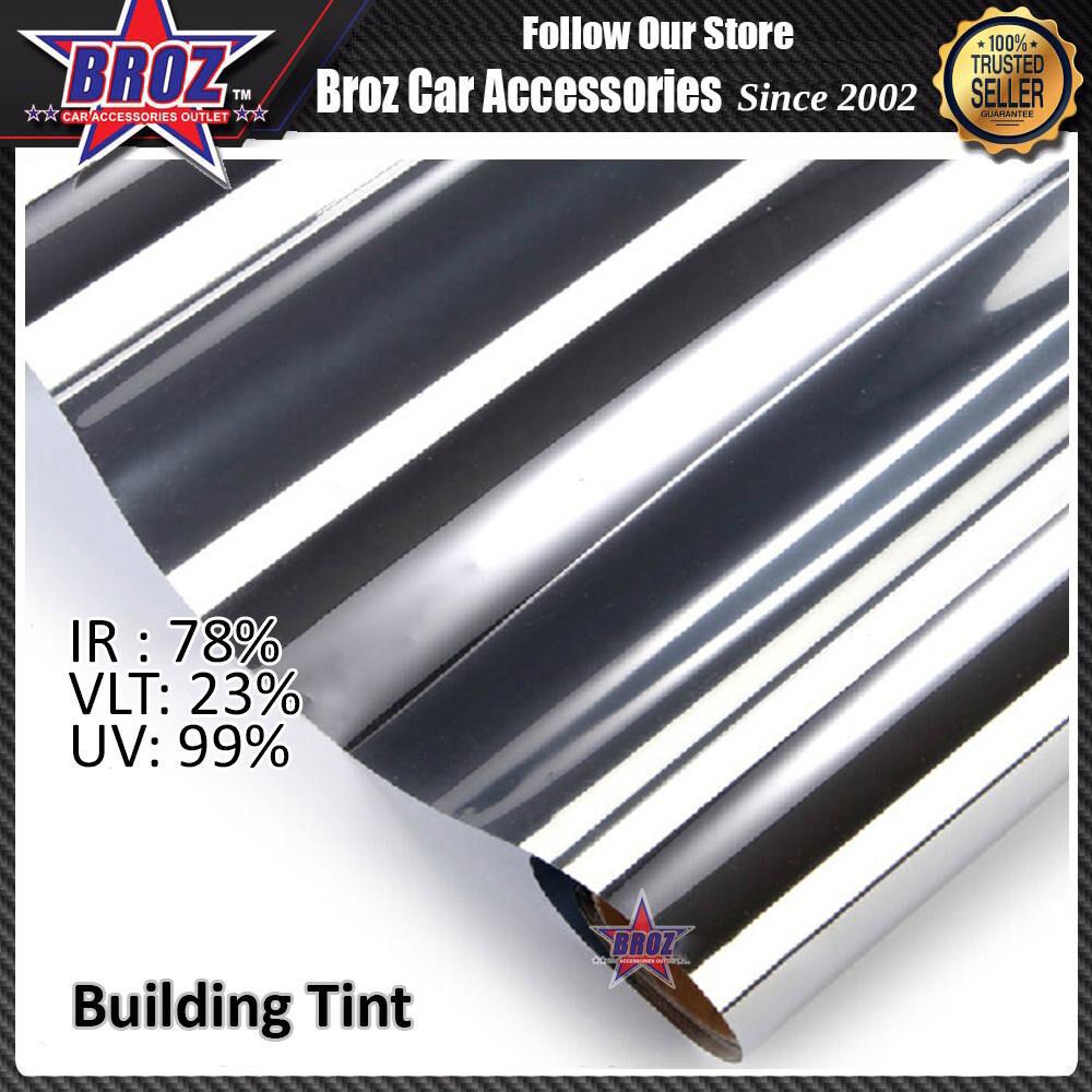 Broz Silver Solar Control Building Tint Window Tint Film For Car 300cm x 50cm