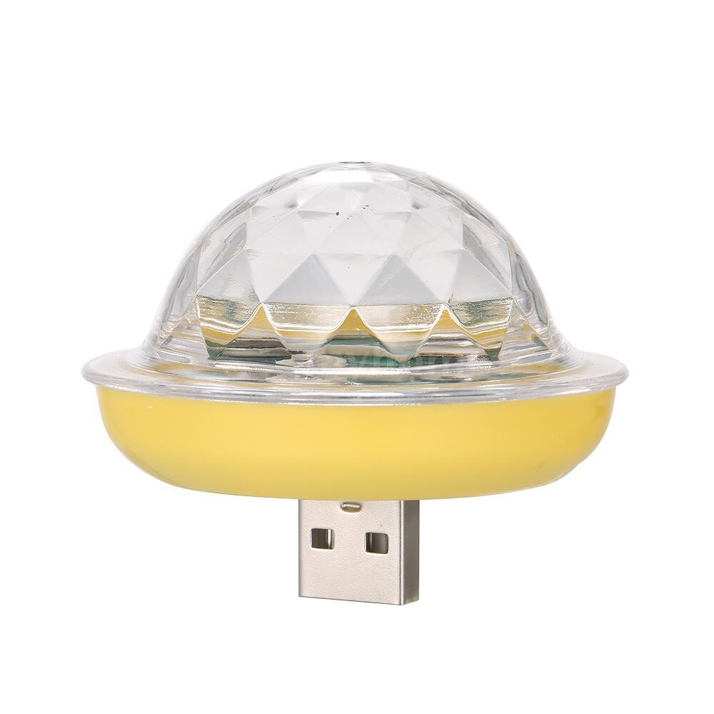 Lighting - Second Generation MINI PORTABLE Light Weight USB Voice Control Small Magic Ball Stage Lamp With - 3 / 2 / 1