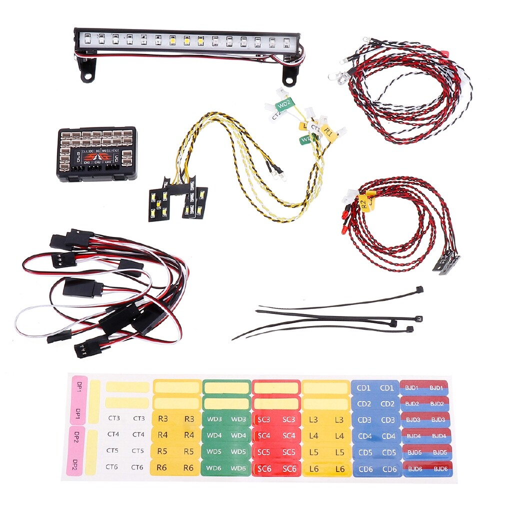 Car Lights - LED Light System SET for 1:10 Car Crawler Traxxas TRX4 Ford Bronco Ranger XLT - Replacement Parts