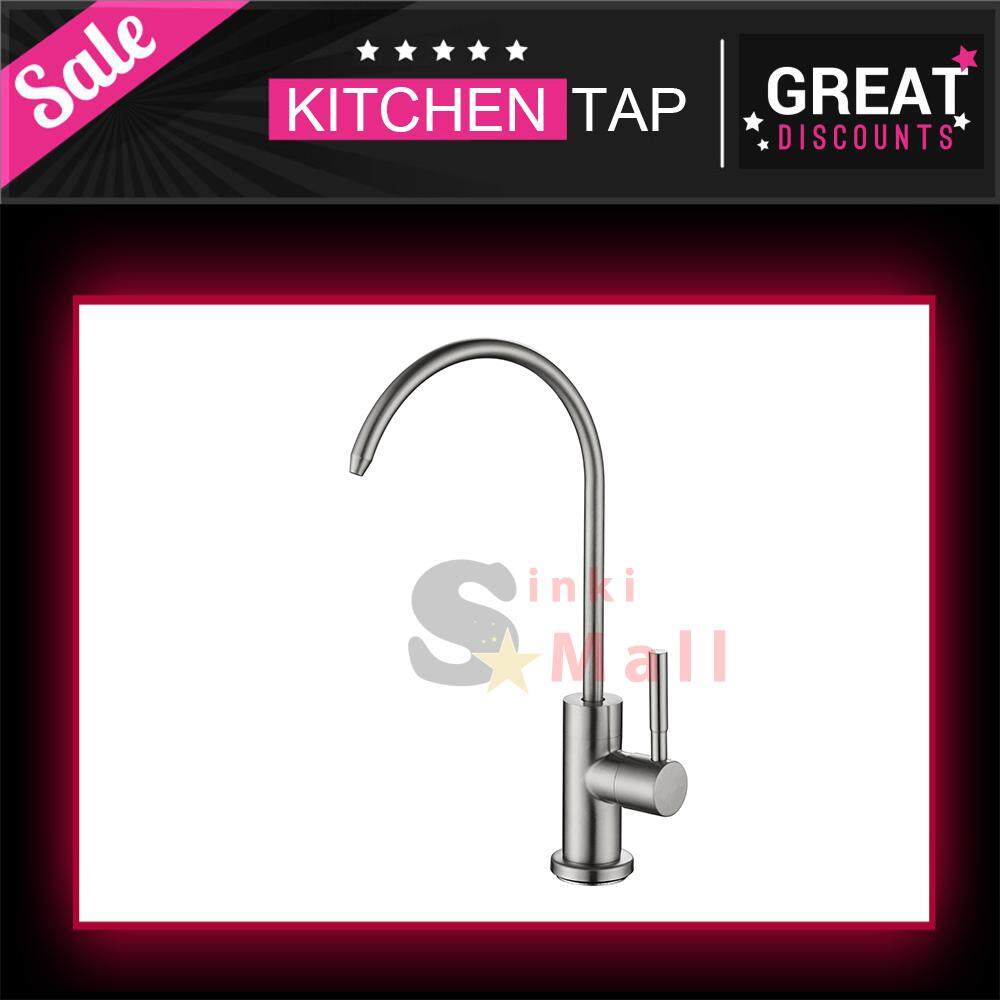 Water Faucet, Lead-Free Beverage Faucet Water Filtration System Purifier filter Drinking Water Faucet Brushed Stainless Steel
