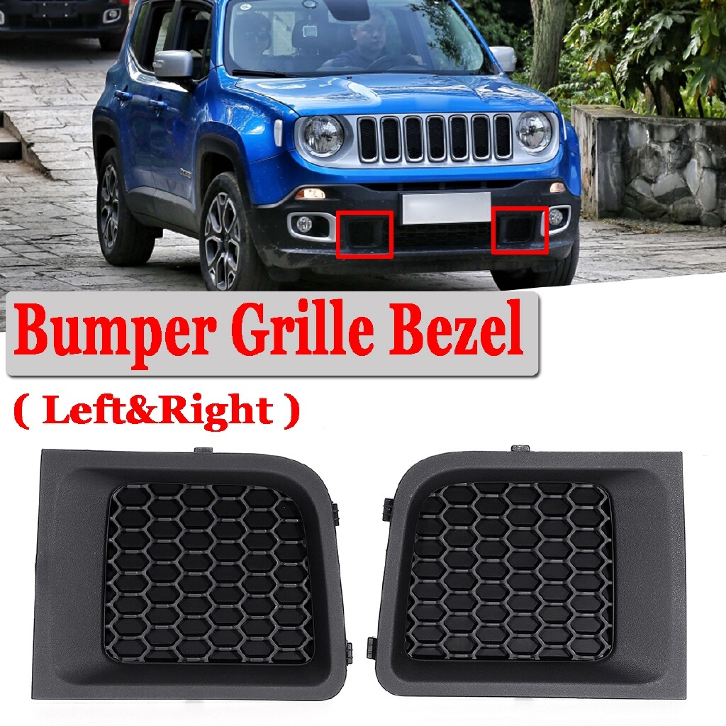Automotive Tools & Equipment - For 2015-2017 Jeep Renegade Front Bumper Left & Right Lower Grille Bezel Cover - Car Replacement Parts