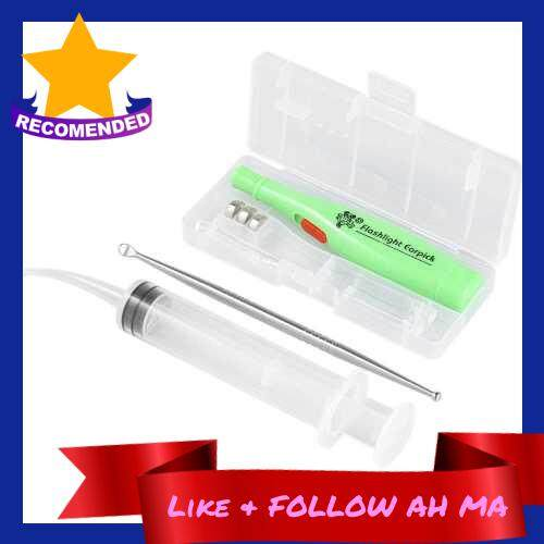 Best Selling Tonsil Stone Remover Tool LED Light Earpick Stainless Steel Earwax Remover With 3 Tips Irrigator Clean (Standard)