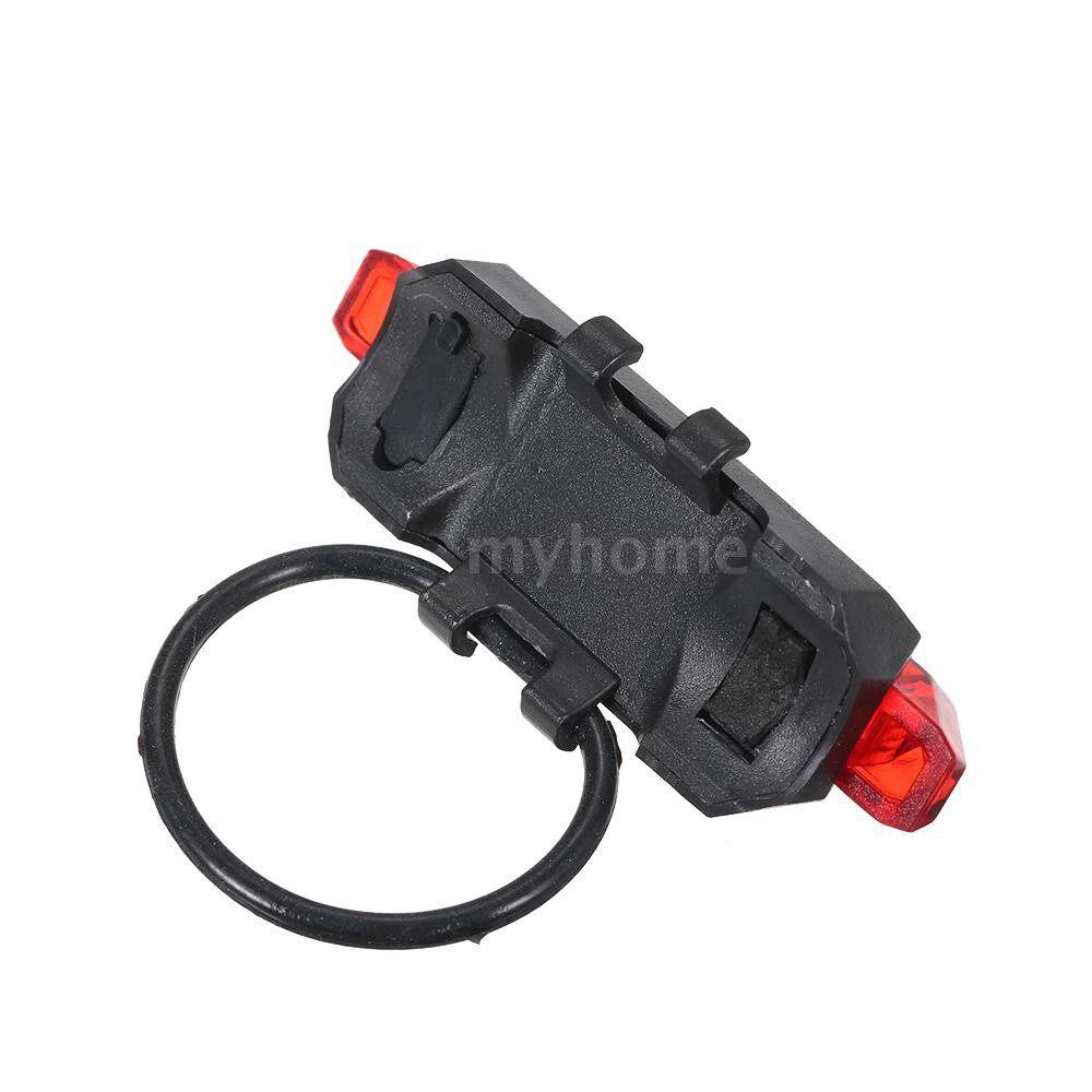 Lighting - 3.7V 0.5W USB Rechargeable LED Bike Light 4 Lighting Modes Bike Tail Light Built in 3.7V 150mah - WHITE / BLUE / RED
