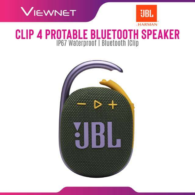 JBL Clip 4 Wireless Portable Wireless Speaker with IP67 Waterproof and Dustproof ,  Bluetooth