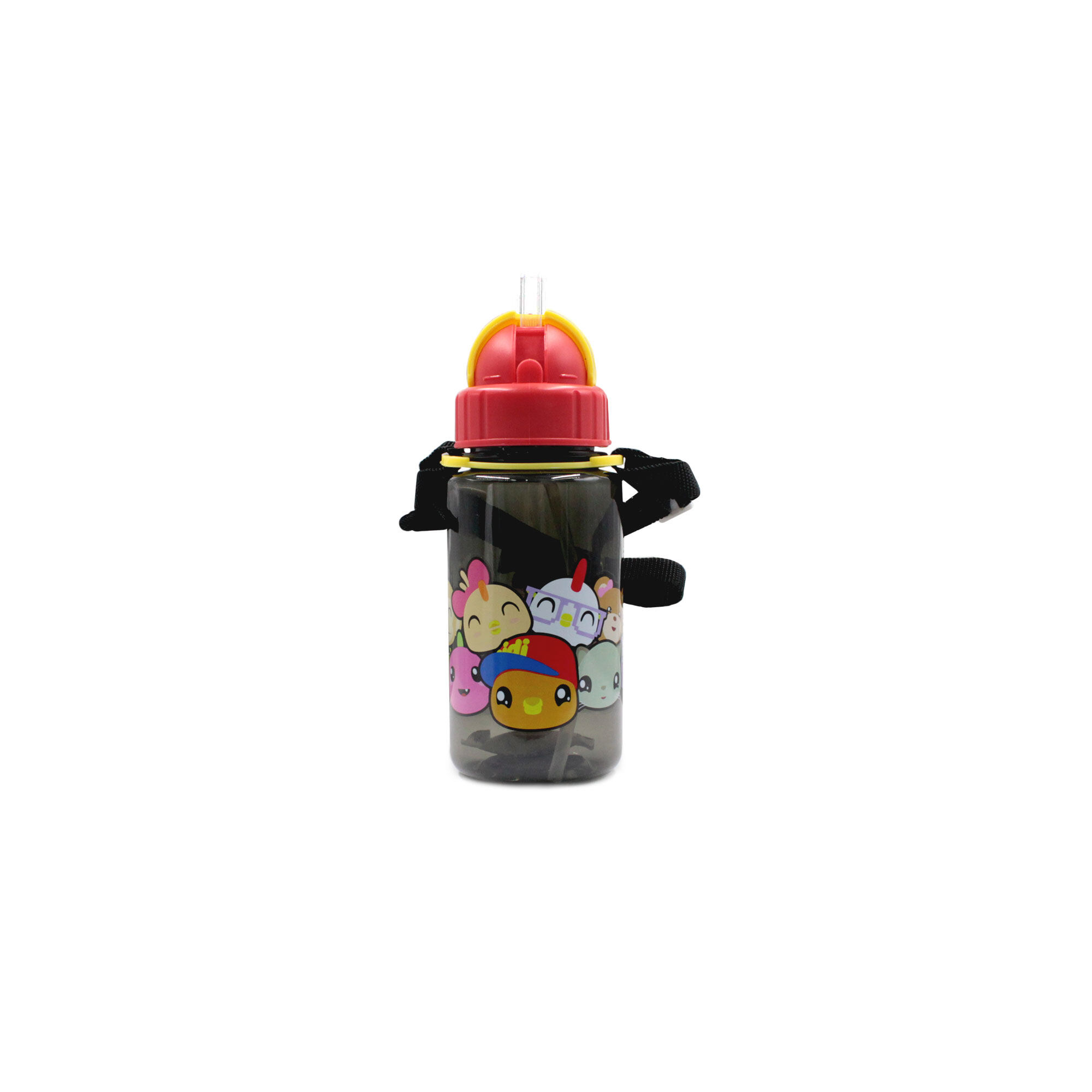 Didi & Friends BPA Free 350Ml Kids Water Bottle With Straw - Black Colour