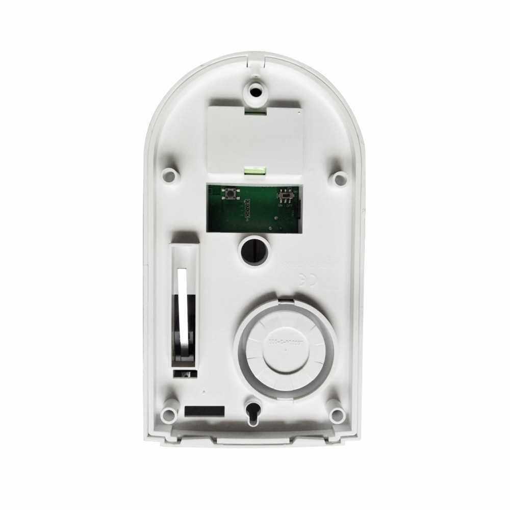 Wireless Sound Strobe Siren Alarm Host Flash Light Alarm Outdoor Waterproof Compatible with 433MHz Remote Control, Door Sensor, PIR detector Home Security Alarm System (White&Red)