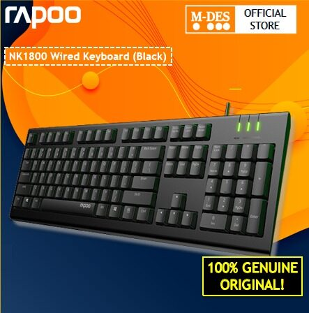 Rapoo NK1800 Wired Keyboard Spill Resistance Wired USB Keyboard