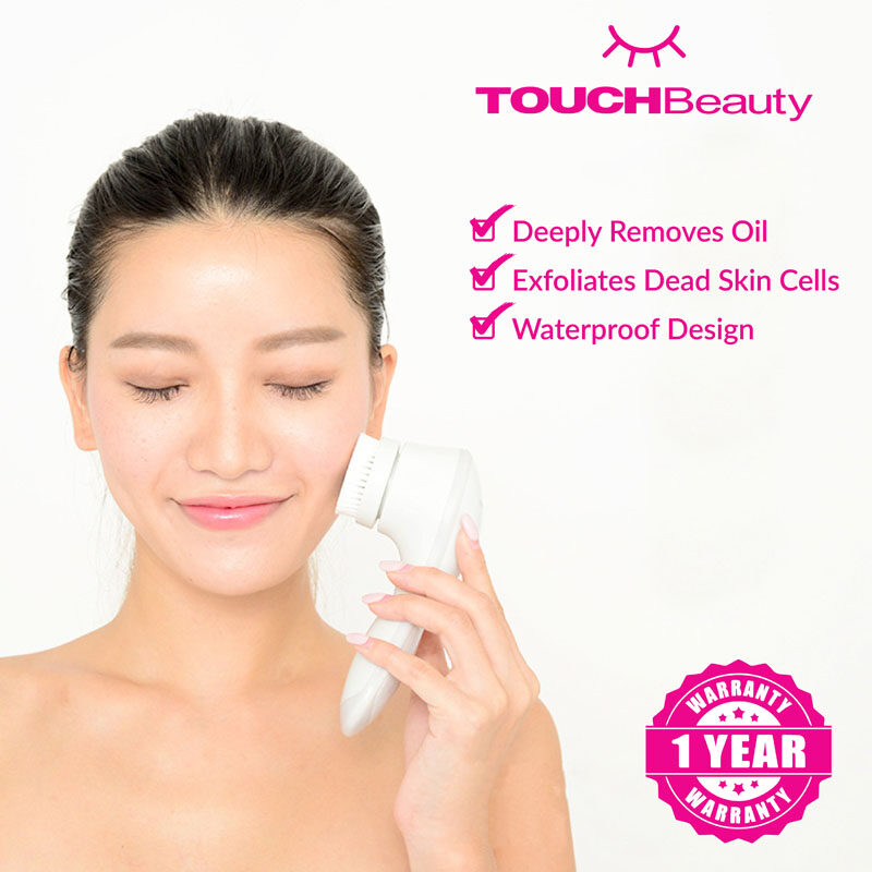 TOUCHBeauty Face Massager Wash Machine TB-1582 Rechargeable 2 in 1 Electrical Facial Cleanser/Pore Cleaner Facial Cleansing Brush Exfoliation Body Spa Skin Care Massage