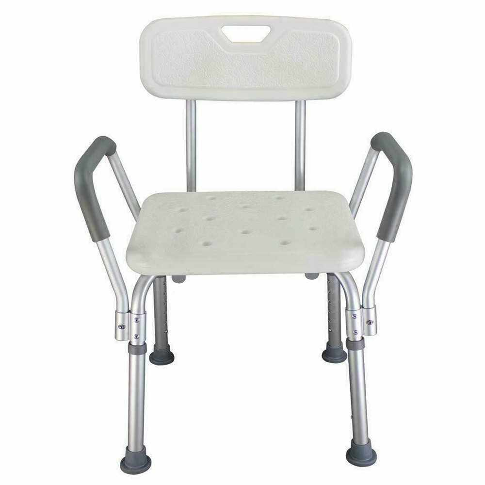 Adjustable Height Elderly Bath Tub Shower Chair Bench Stool Seat Non-slip (3)