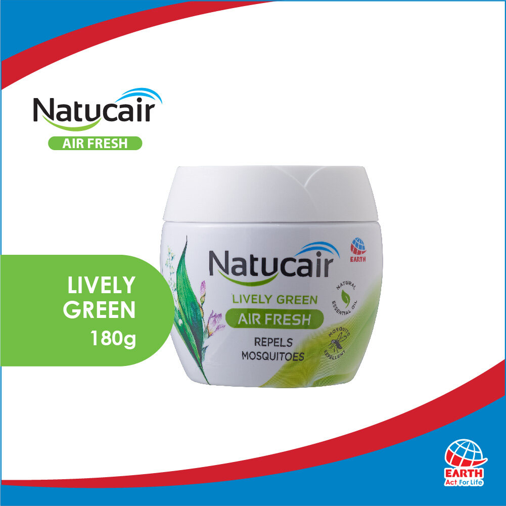 Natucair Air Fresh Mosquito Repellent Gel Lively Green (180g)8850273183519