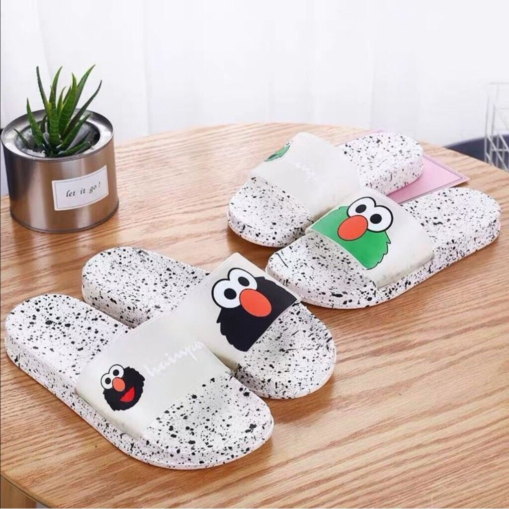 Sesame Street Slippers Women Sandals Summer Cartoon Pattern