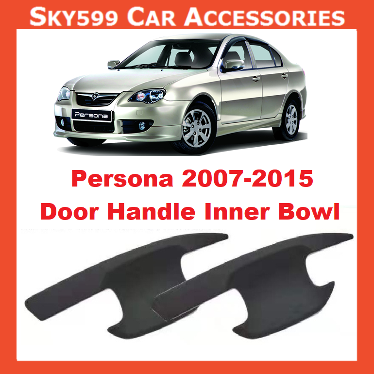 Proton Persona 2007-2015 Matte Black Door Handle Inner Bowl Inserts Cover 4pcs