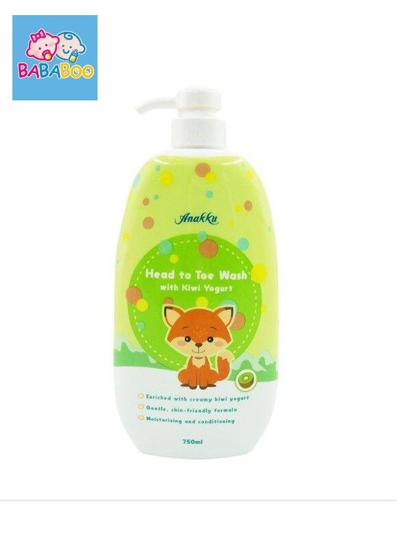 Anakku HEAD TO TOE Baby Wash (Kiwi Yogurt)| Mandian HEAD TO TOE Bayi (750ml) HTTY7502