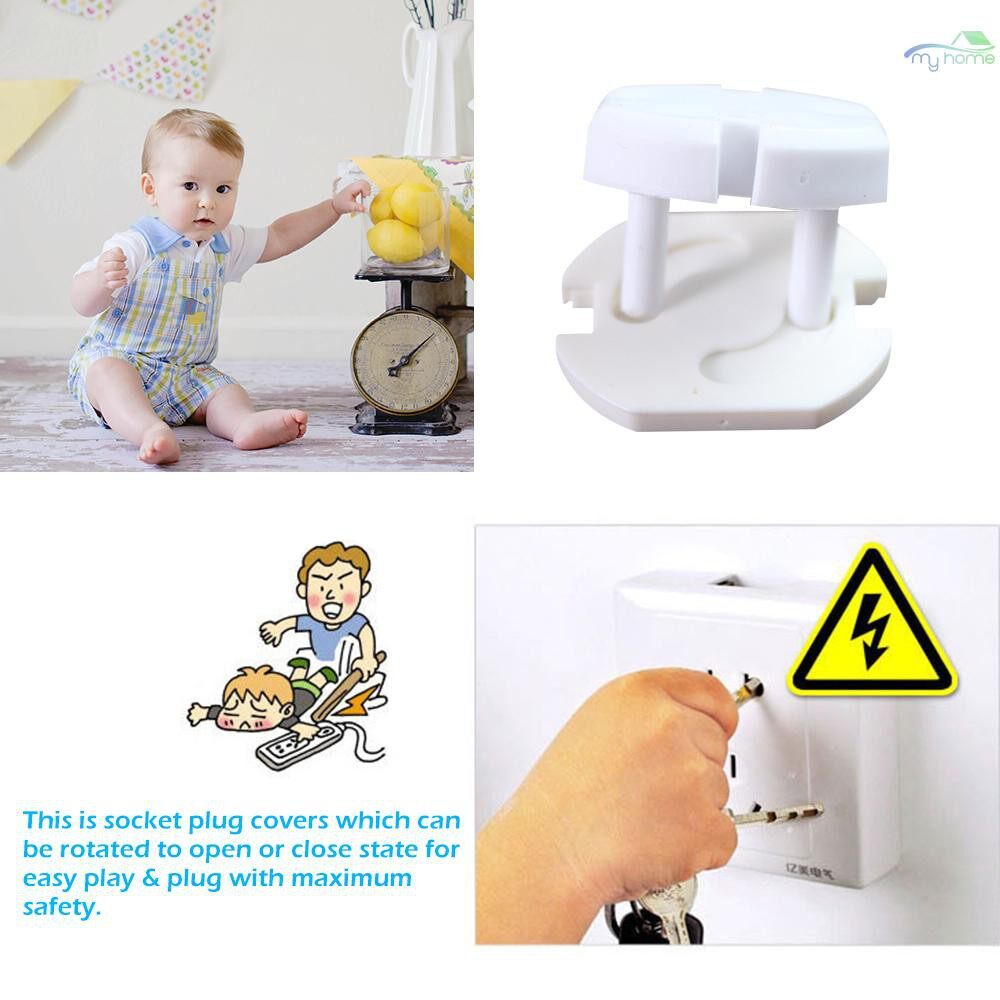 Security & Surveillance - 1 PIECE(s) EU Power Socket Electrical Outlet Baby Child Home Safety Guard Protection Anti Electric Shock - WHITE-1