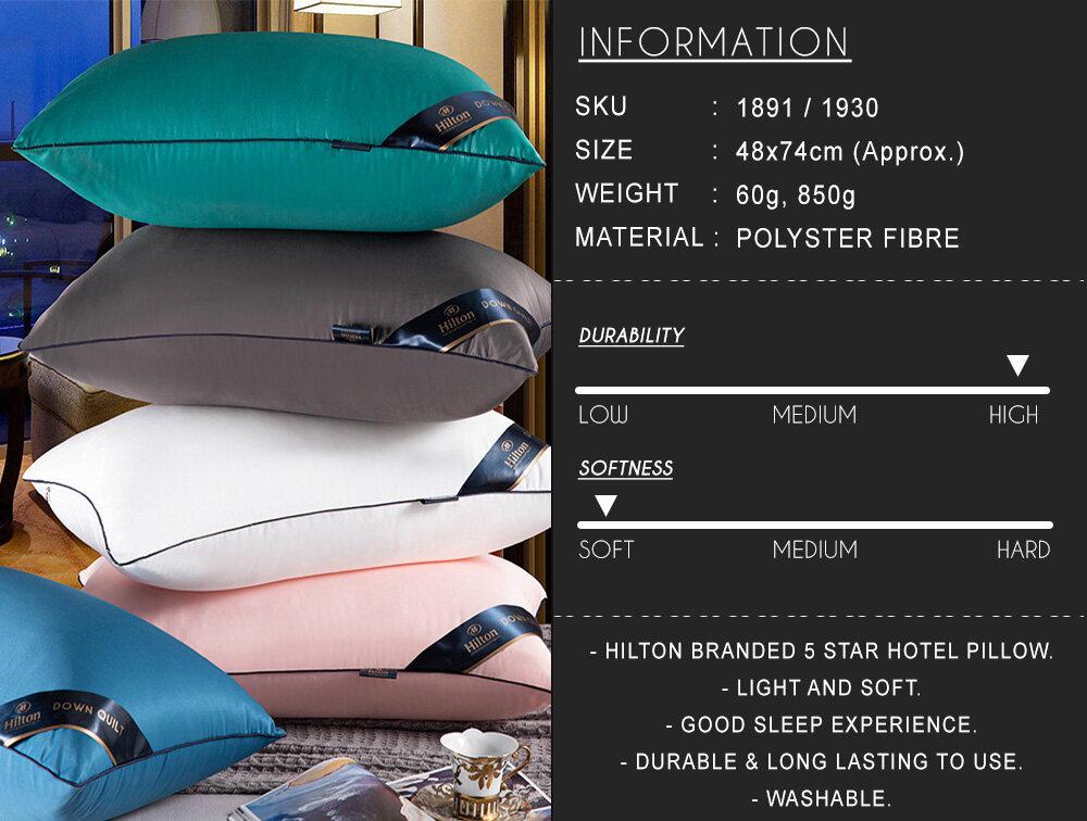 5 Stars Hotel Hilton Pillow Excellent Quality (600g) BEST SELLER