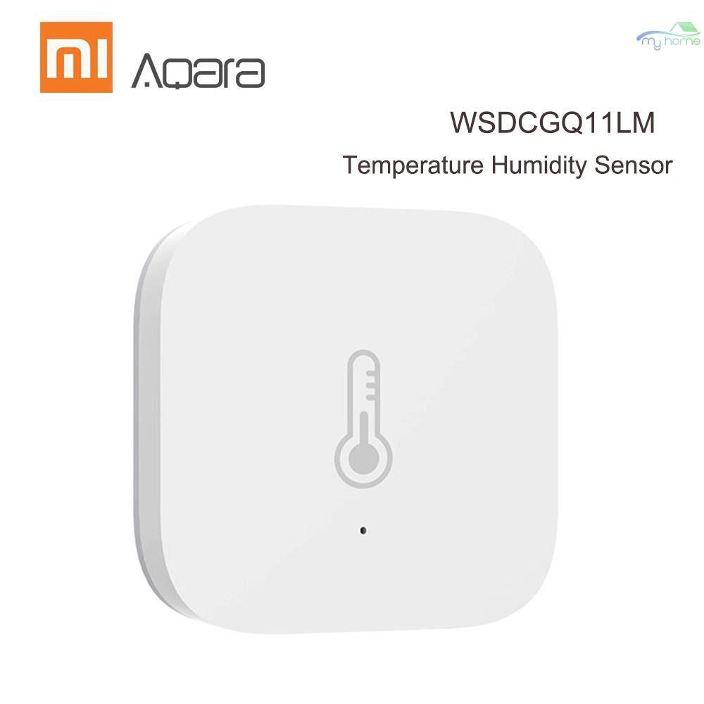 Sensors & Alarms - Aqara WSDCGQ11LM Temperature Humidity Sensor Real-time Temperature and Humidity Detection - WHITE