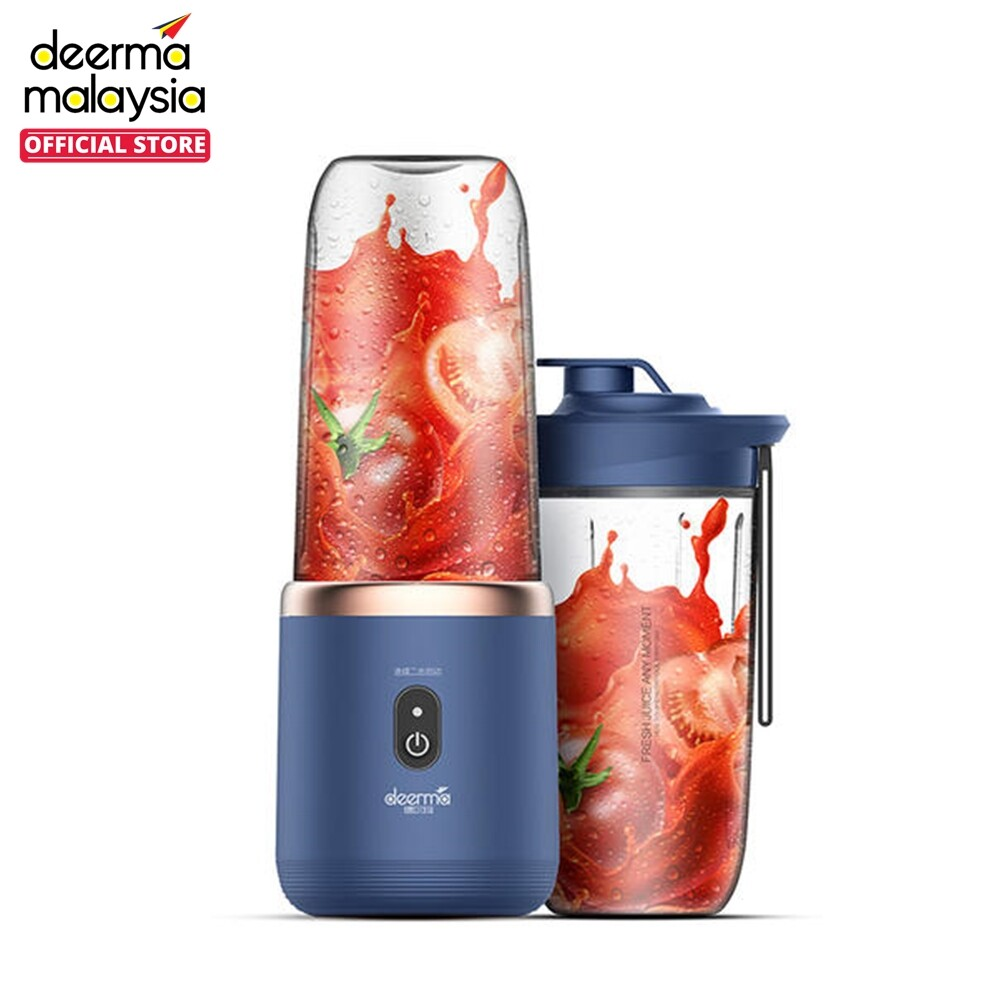 Deerma NU06 Portable Rechargeable Wireless Mini Juicer Blender with Extra Bottle Cup 400ml & Popsicle Box [READY STOCK NEW ARRIVAL]