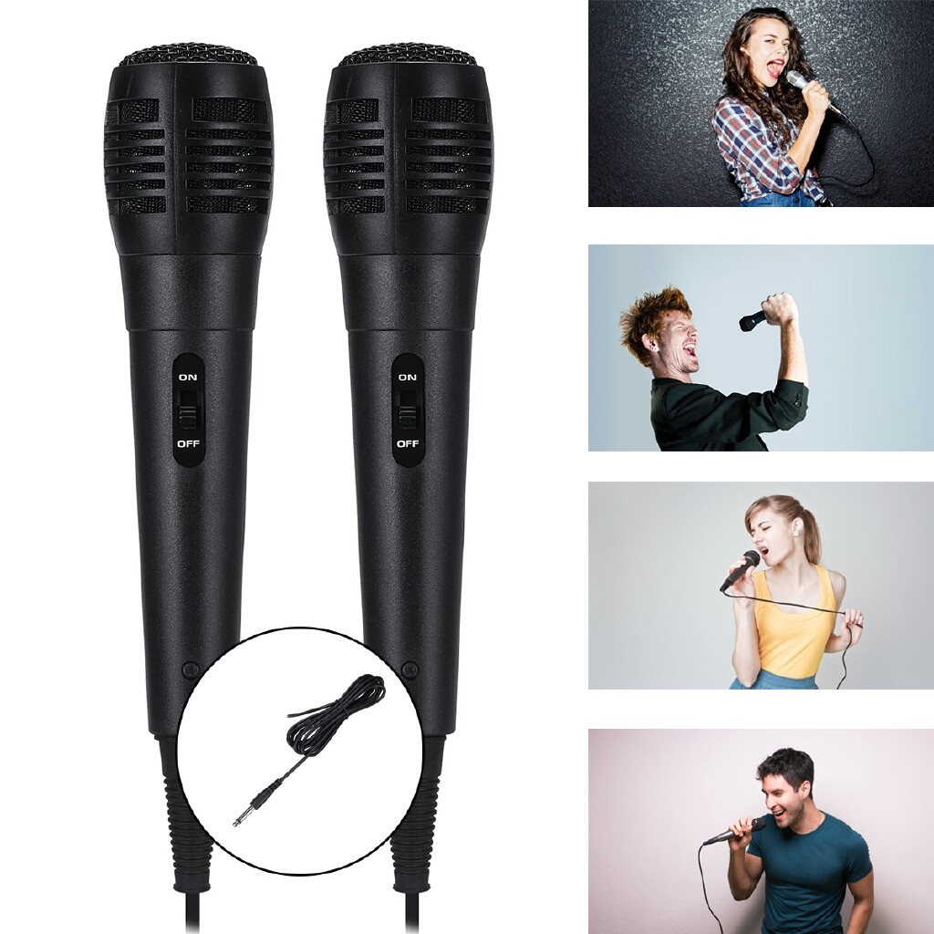 Radios - Handheld Wired Dynamic Microphone Audio Karaoke Xmas Party Music - Audio