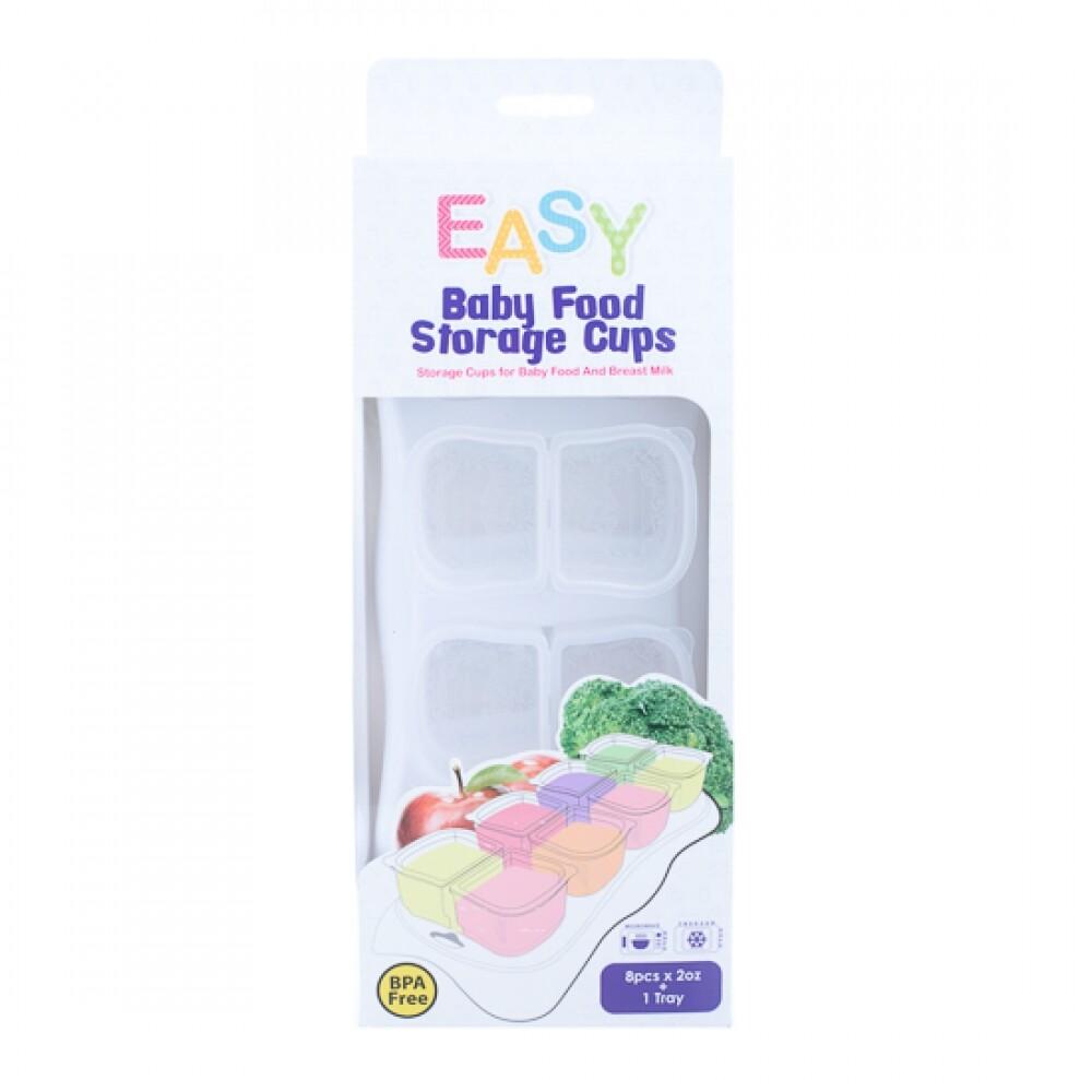 Autumnz EASY Breastmilk & Baby Food Storage Cups (2oz) - WHITE