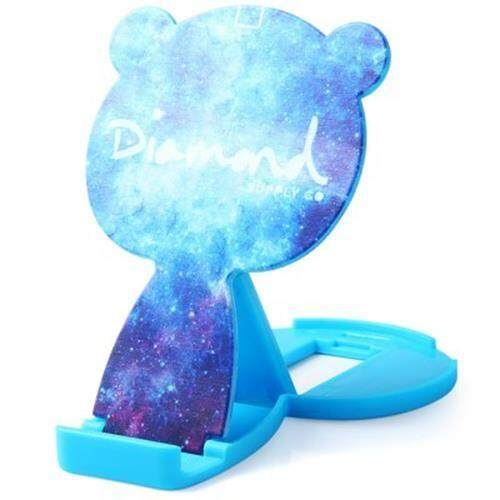 CUTE CARTOON BEAR DESIGN ADJUSTABLE PHONE STAND HOLDER WITH MIRROR - STARRY SKY PATTERN (STARRY SKY PATTERN)